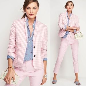 TALBOTS PARTY GINGHAM BLAZER,SZ 4